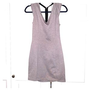 Black & gray fitted dress